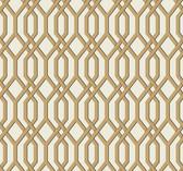 Ashford House SW7501 - Garden Pergola Wallpaper Gold