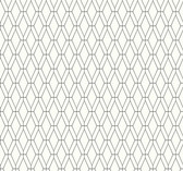 Ashford House SW7518 - Black Diamond Lattice Wallpaper