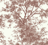 Ashford House YV9012 - Black & White Tree Silhouette Sidewall Wallpaper