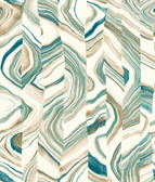 Coastal Calm CM3308 - Agate Stripe Wallpaper Teal