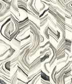 Coastal Calm CM3310 - Agate Stripe Wallpaper Black