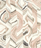 CM3311 -  Agate Stripe Wallpaper - Coral