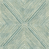Coastal Calm CM3331 - Dimensional Diamond Wallpaper Teal