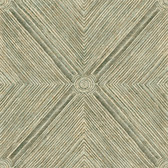 Coastal Calm CM3333 - Dimensional Diamond Wallpaper Patina