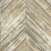 Coastal Calm CM3338 - Herringbone Wood Boards Wallpaper Neutral