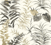 Coastal Calm CM3351 - Palms Wallpaper Neutral