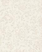 Delicate Scroll Wallpaper TN0036 - White
