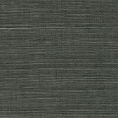 Grasscloth Wallpaper - 2732-80075 Kowloon Charcoal Sisal