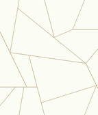 York Premium Peel and Stick PSW1064RL - Fractured Prism Wallpaper Gold