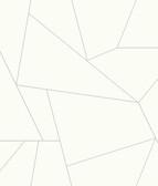 York Premium Peel and Stick PSW1065RL - Fractured Prism Wallpaper Gray