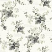 Magnolia Home PSW1007RL - Heirloom Rose Peel and Stick Wallpaper Gray