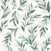 Magnolia Home PSW1002RL - Olive Branch Peel and Stick Wallpaper Teal