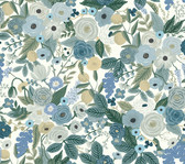 Rifle Paper RI5120 - Garden Party Wallpaper Blue