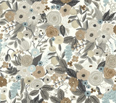 Rifle Paper RI5121 - Garden Party Wallpaper Brown/Beige