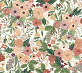 Rifle Paper RI5122 - Garden Party Wallpaper Burgundy