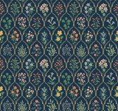 Rifle Paper RI5129 - Hawthorne Wallpaper Navy