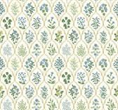 Rifle Paper RI5132 - Hawthorne Wallpaper Blue/Green