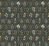 Rifle Paper RI5133 - Hawthorne Wallpaper Black/Cream