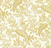 Rifle Paper RI5138 - Canopy Wallpaper Gold/White