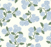 Rifle Paper RI5143 - Hydrangea Wallpaper Blue/White