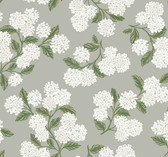 Rifle Paper RI5144 - Hydrangea Wallpaper Gray