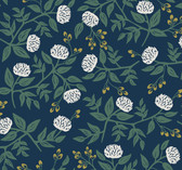 Rifle Paper RI5149 - Peonies Wallpaper Navy