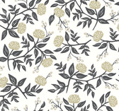 Rifle Paper RI5150 - Peonies Wallpaper White/Black