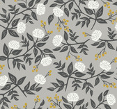 Rifle Paper RI5152 - Peonies Wallpaper Gray