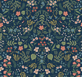 Rifle Paper RI5154 - Wildwood Wallpaper Navy