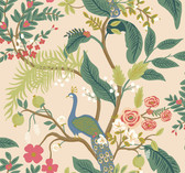 Rifle Paper RI5169 - Peacock Wallpaper Light Pink