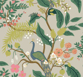 Rifle Paper RI5171 - Peacock Wallpaper Linen