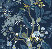 Rifle Paper RI5172 - Peacock Wallpaper Navy