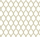 Rifle Paper RI5176 - Laurel Wallpaper Gold/White