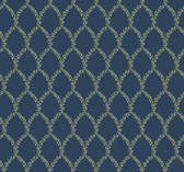 Rifle Paper RI5179 - Laurel Wallpaper Navy