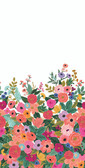 Rifle Paper RI5190M - Garden Party Mural Wallpaper Cream/Pink