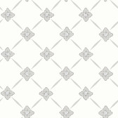 2827-4505 Linne Light Grey Geometric Floral Wallpaper