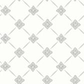 2827-4505 Linne Light Grey Geometric Floral Wallpaper