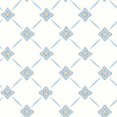 2827-4506 Linne Light Blue Geometric Floral Wallpaper