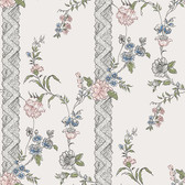 2827-4507 Slottsteatern Multicolor Floral Stripe Wallpaper