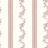 2827-4510 Drottningholm Rose Floral Stripe Wallpaper