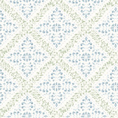 2827-4516 Nyborg Blue Ornamental Geometric Wallpaper