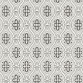 2827-4525 Pigkammaren Dark Brown Ogee Wallpaper