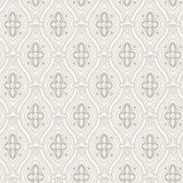 2827-4526 Pigkammaren Light Grey Ogee Wallpaper