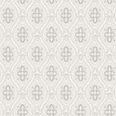 2827-4526 Pigkammaren Light Grey Ogee Wallpaper
