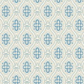 2827-4527 Pigkammaren Blue Ogee Wallpaper