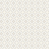 2827-4528 Loka Grey Geometric Floral Wallpaper