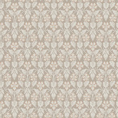 2827-4536 Nora Light Brown Ogee Wallpaper