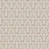 2827-4536 Nora Light Brown Ogee Wallpaper