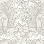 2827-4540 Siri Grey Floral Wallpaper