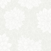 2827-7186 Foliage Grey Floral Wallpaper